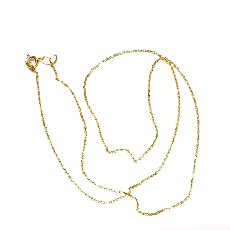 Aranyozott ezüst nyaklánc 45 cm  754