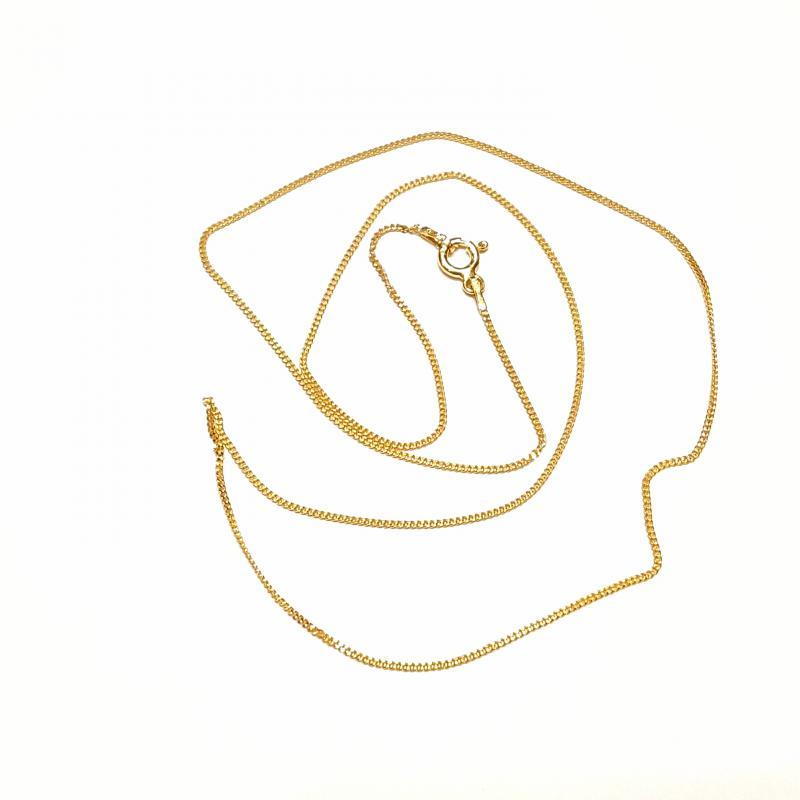 Aranyozott ezüst nyaklánc 50 cm  1754