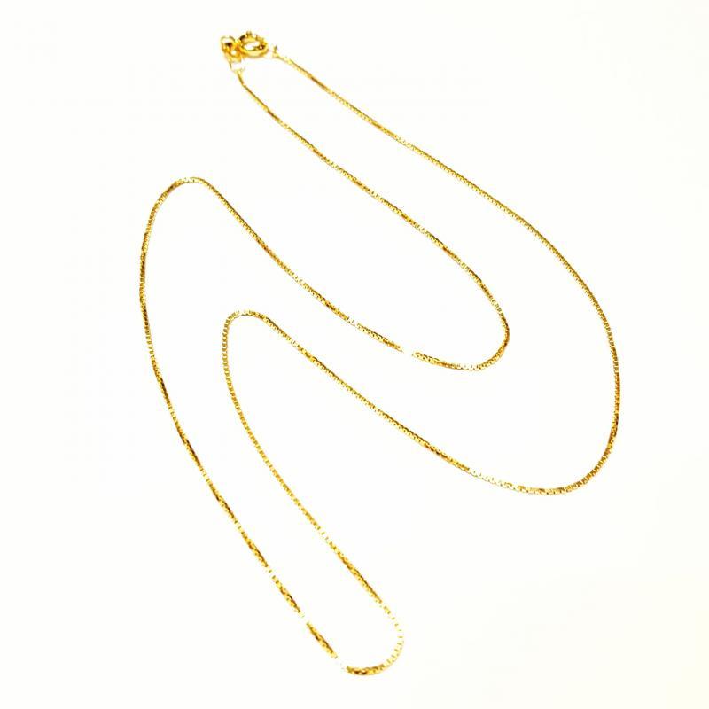 Aranyozott ezüst nyaklánc 50 cm  756