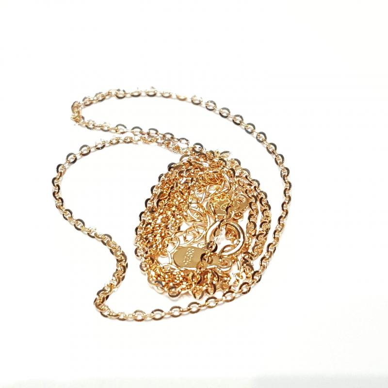 Aranyozott ezüst nyaklánc rozé 45 cm  762