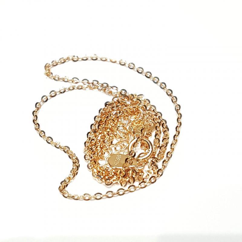 Aranyozott ezüst nyaklánc vöröses 45 cm  762