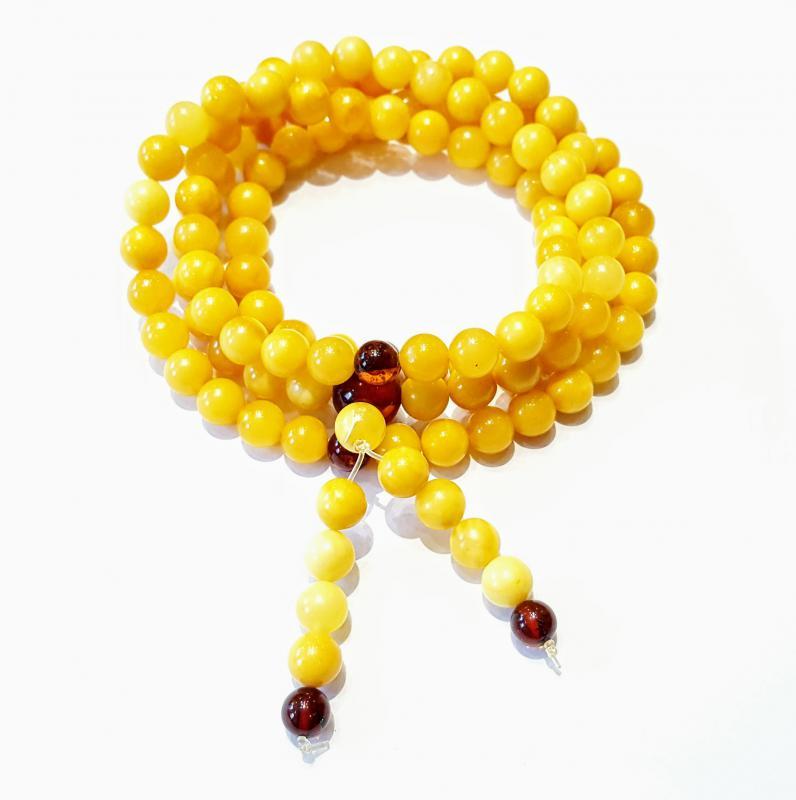 Borostyán mala 108 darabos sárga opak 618