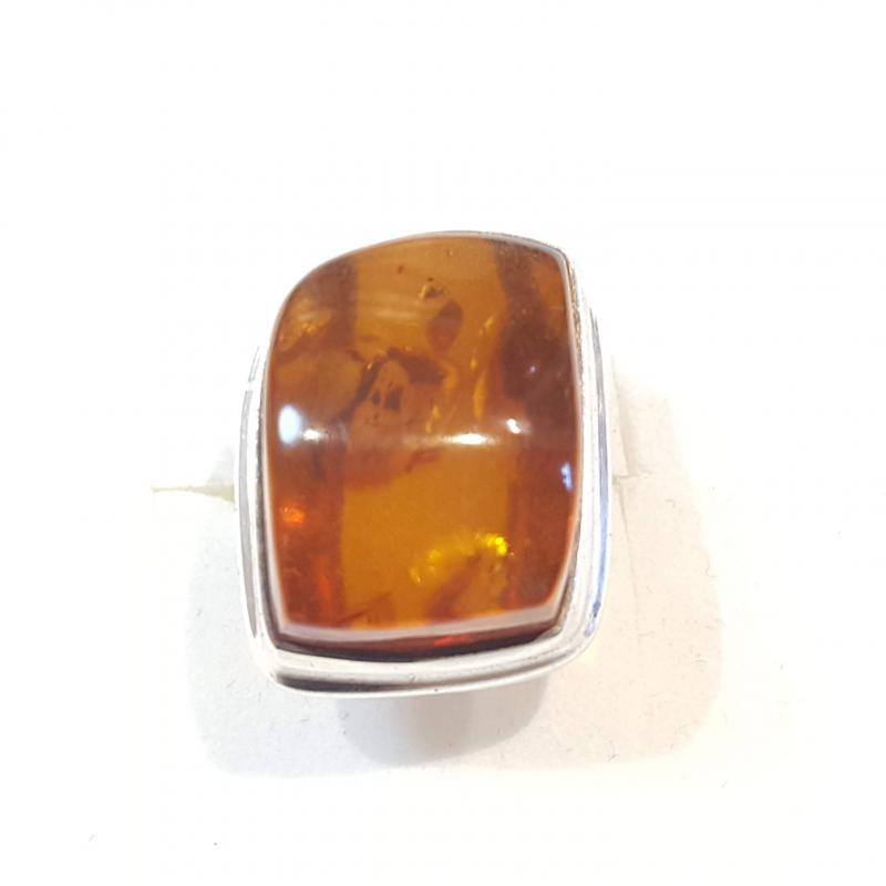 Borostyánköves ezüst gyűrű  egyedi méret  54-es   288