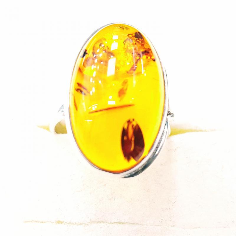 Borostyánköves ezüst gyűrű Jubilex  350