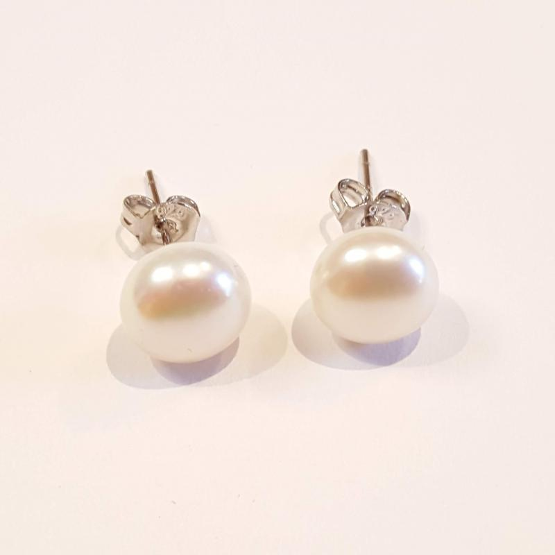 Édesvízi gyöngy fülbevaló ezüst stift 115