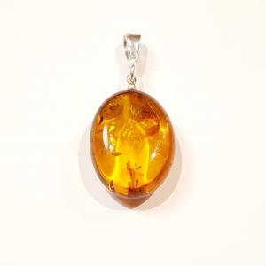 Borostyánkő  medál ezüst karikával egyedi Jubilex 422