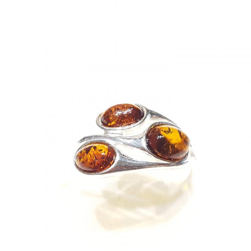 Ezüst gyűrű borostyán kővel lengyel Jubilex  320