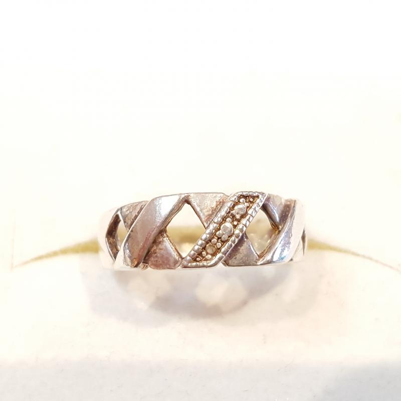 Ezüst gyűrű rácsos Jubilex 736