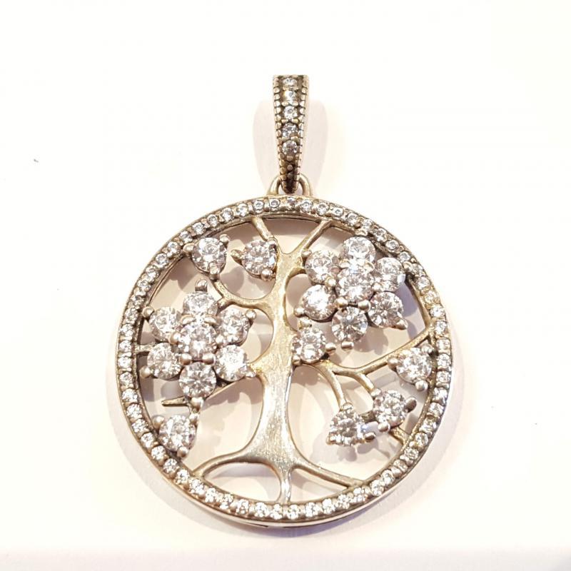 Ezüst medál életfa köves Jubilex 1220