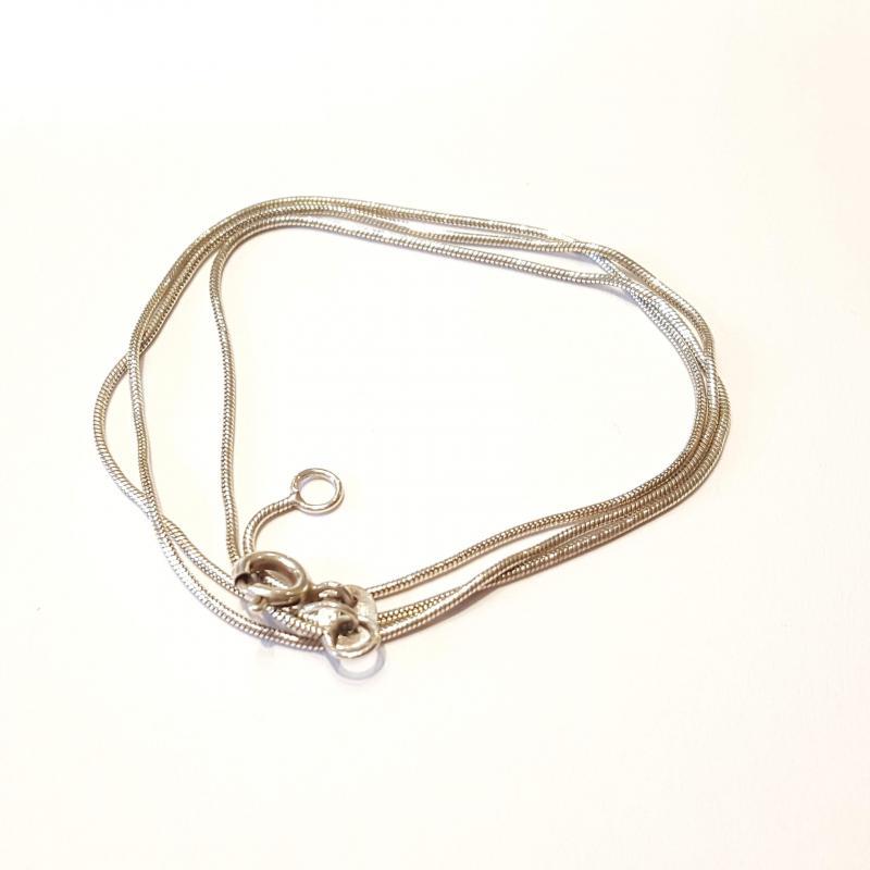 Ezüst nyaklánc kígyólánc 45 cm  239
