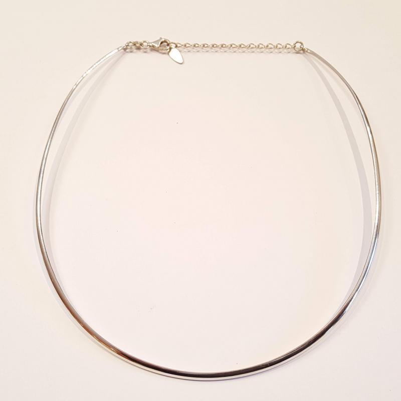 Ezüst nyakpánt nyakék lapos,medálhoz Jubilex 309