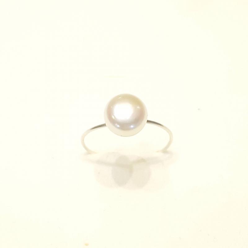 Igazgyöngy ezüst gyűrű 137