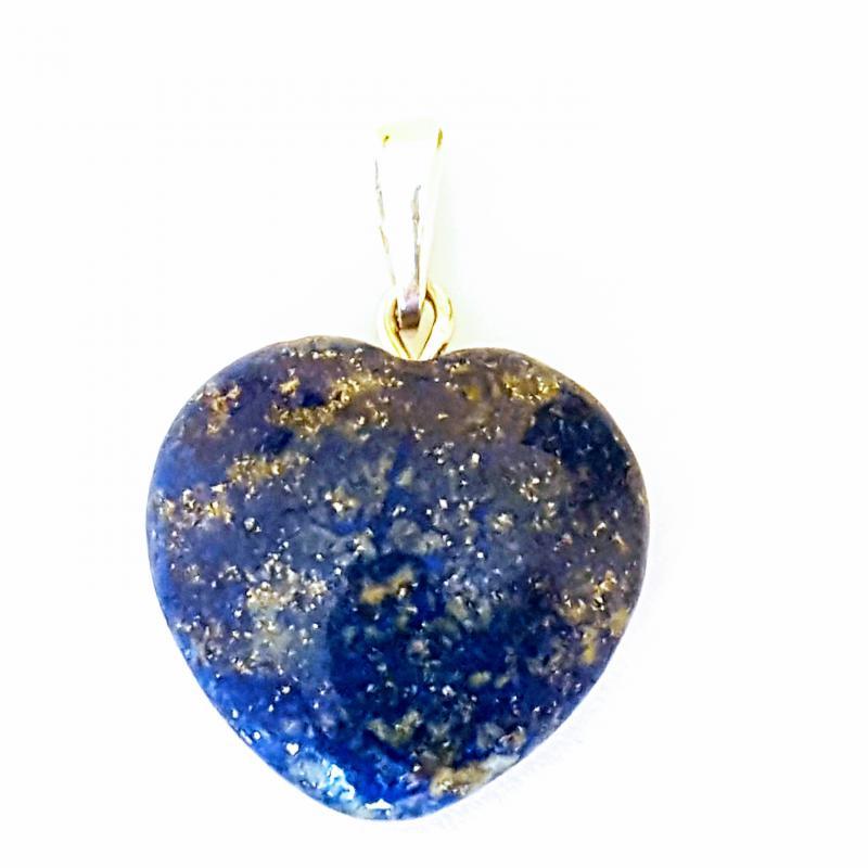 Lápisz lazuli medál szív ezüst akasztóval 237