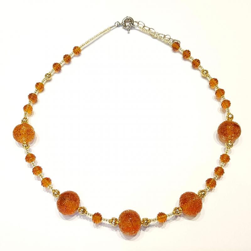 Muránói üveg nyakék nyaklánc gyöngyök 704