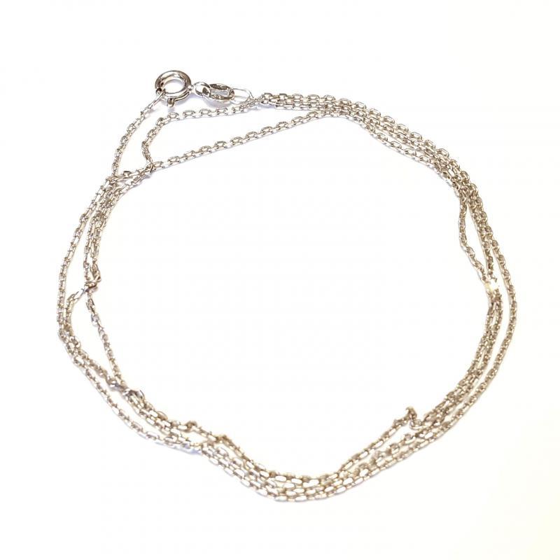 Ródiumozott ezüst nyaklánc anker 60 cm  738