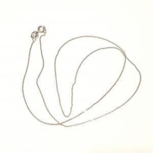 Ródiumozott ezüst nyaklánc 45 cm  752