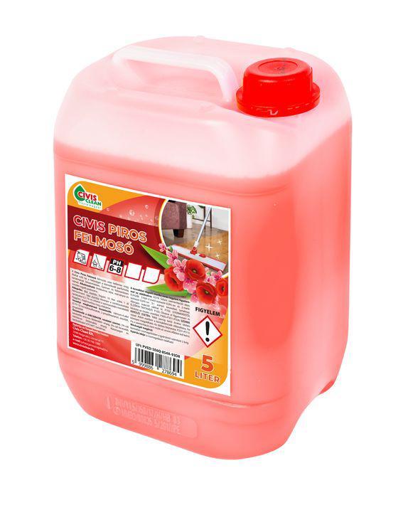 Civis Piros felmosószer 5L virág