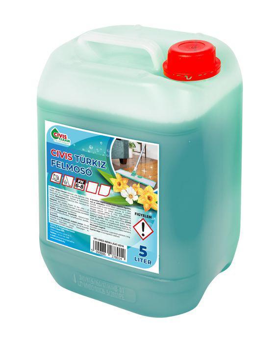 Civis Türkiz felmosó 5L kék virág