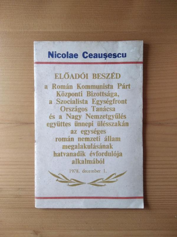 Ceausescu: Előadói beszéd