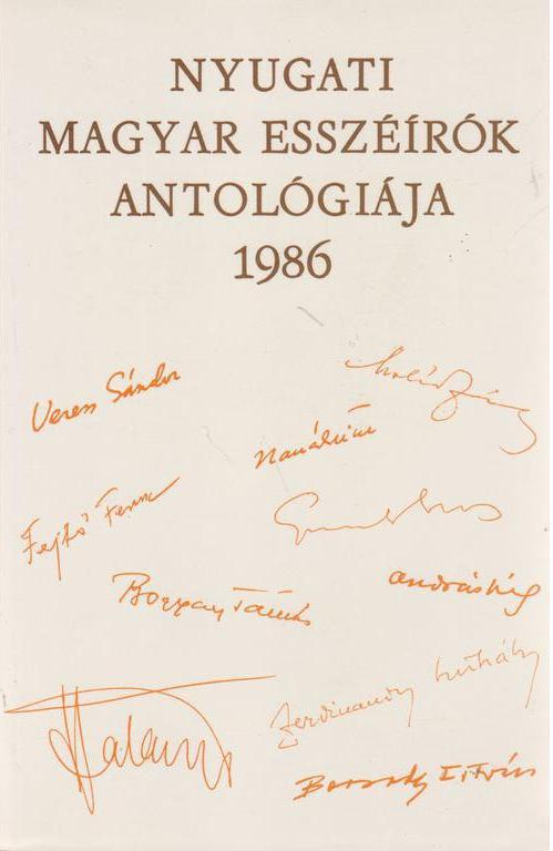 Nyugati magyar esszéírók antológiája - 1986