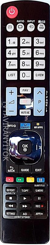 AKB73615303, AKB74455403, AKB73756502, AKB74455401, AKB73756565 LCD/TFT 3D, UTÁNGYÁRTOTT LG TÁVIRÁNYÍTÓ