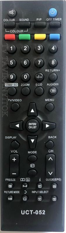 JVC, ORION TV TÁVIRÁNYÍTÓ LCD/LED  UCT-052