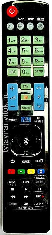 LG AKB73615303, AKB-73615303, AKB73615397, AKB73615362, 3D SMART LED TÁVIRÁNYÍTÓ