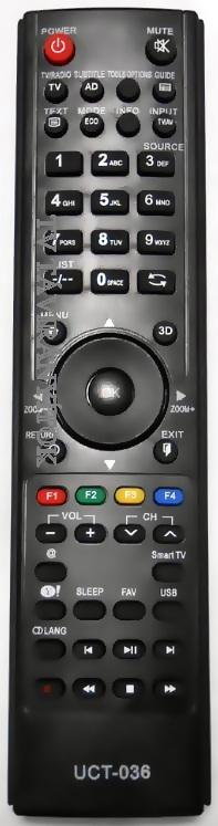 THOMSON 3D LED TV távirányító UCT-036