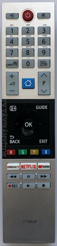 Toshiba CT-8528,CT8528 SMART távirányító YOUTUBE, NETFLIX