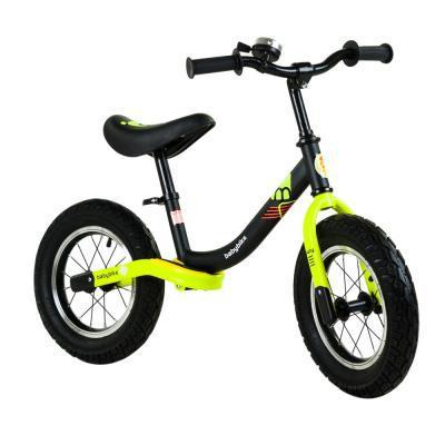 Babybike futóbicikli, fekete-neonsárga, BR19098