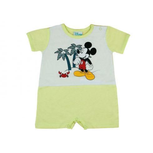 Disney Mickey rövid ujjú baba napozó, 62 cm /sárga/