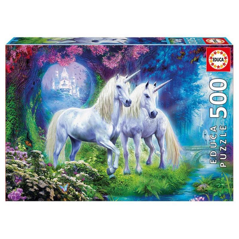 Educa Unikornisok az erdőben puzzle, 500 darabos