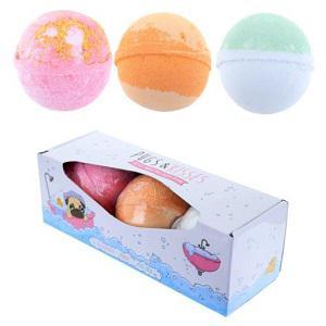 Fürdőgolyó Szett, 3 db-os - Gyümölcsös illatok(dinnye,cseresznye,eper),átmérő 7cm