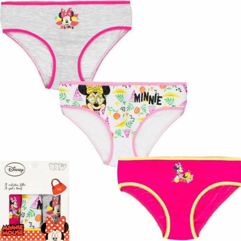 Gyerek fehérnemű, bugyi Disney Minnie 3 darab/csomag (4/5)/több színben