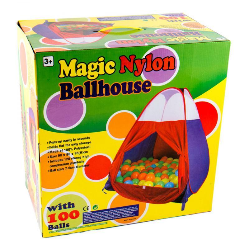 Gyermek játszósátor, 100 darab labdával