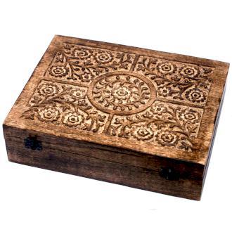 Illóolaj tároló doboz, Mangófából , 80 Üvegcséhez