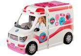 Mattel Barbie Mentőautó fénnyel és hanggal, guruló klinika