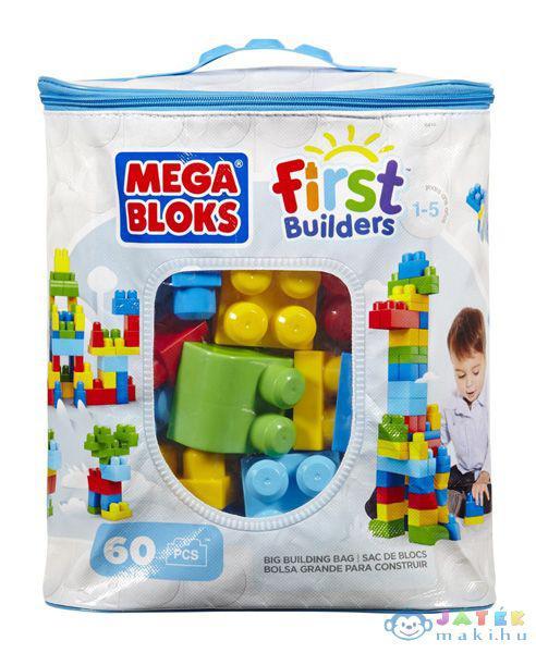 Mega Bloks, 60 db klasszikus színű építőkocka táskában