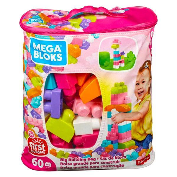 Mega Bloks, 60 db lányos építőkocka táskában