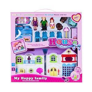 MK Toys Játék babaház bútorokkal és kiskutyával