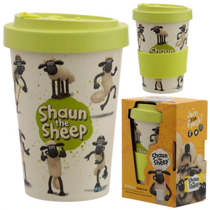 Shaun a Bárány utazópohár - Természetes bambusz kompozit