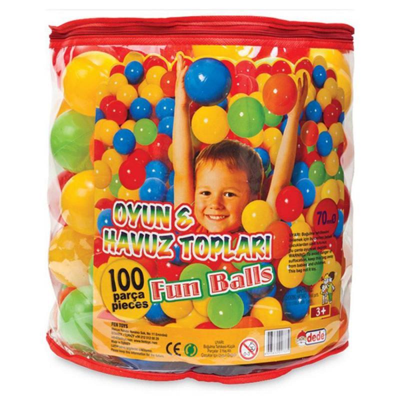 Színes műanyag labda, 100 darabos (01733)