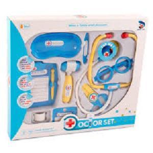 Sztetoszkópos orvosi készlet, kék