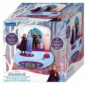 Jégvarázs / Frozen projektoros ébresztőóra hanggal és fénnyel LEX-RP510FZ