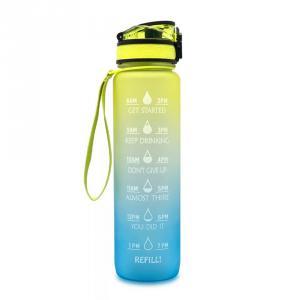 Motivációs kulacs - kék-sárga 1000 ml
