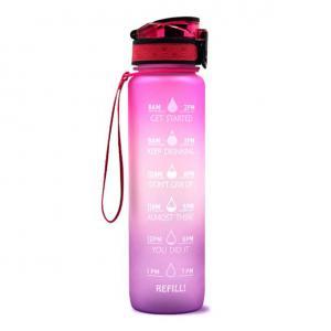 Motivációs kulacs - rózsaszín 1000 ml