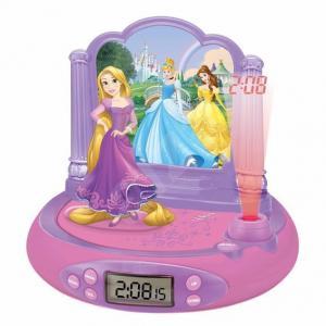 Princess / Hercegnők projektoros ébresztőóra és rádió hanggal és fénnyel LEX-RP515DP