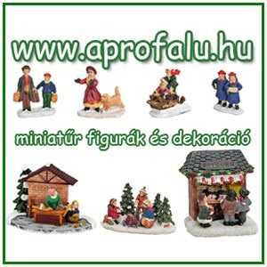 KARÁCSONYI FALU: Miniatűr figurák