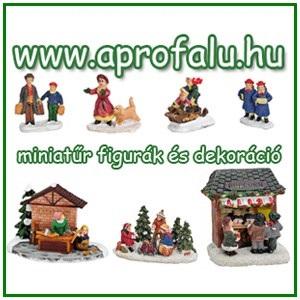 MINIATŰR FIGURÁK - KARÁCSONYI FALU