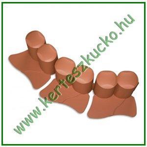 Ágyásszegély műanyag IPAL6 TERRACOTTA (10 cm x 3 m)